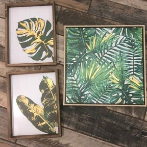 Other - Set of 3 — Tropical Leaf Wall Decor 🌴🌴🌴